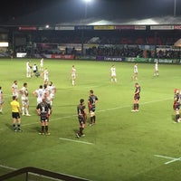 Photo taken at Rodney Parade by Andy S. on 10/14/2016
