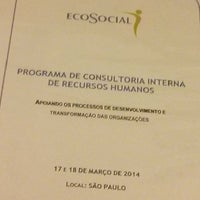 Photo taken at Instituto EcoSocial by Joao Carlos R. on 3/17/2014