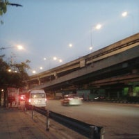 Photo taken at Sutthisan Intersection by Nattika R. on 10/10/2013