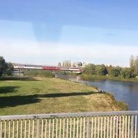 Photo taken at Панаирен мост (Plovdiv Fair bridge) by Nil on 10/29/2017