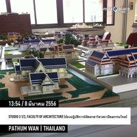 Photo taken at Studio 3 1/2, Faculty of Architecture (ห้องปฏิบัติการนิสิตสาขาวิชาสถาปัตยกรรมไทย) by Nitinat S. on 3/8/2013