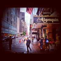 Photo taken at The Algonquin Hotel Times Square, Autograph Collection by Anthony L. on 5/23/2013
