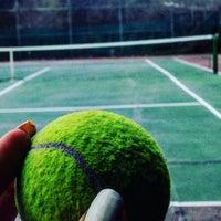 Photo taken at Atakoy Tenis Kortlari by Nurdan K. on 1/30/2016