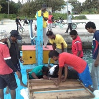 Photo taken at Miladhoo Harbour by Chan N. on 1/25/2014