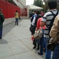 Photo taken at Metrorrey (Estación San Nicolás) by Kthie I. on 3/8/2014