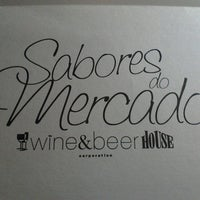 Photo taken at Wine&Beer House Sabores do Mercado by Sílvia S. on 4/8/2014