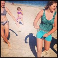 Photo taken at Fair Harbor Beach (Walnut Walk) by Nick L. on 8/8/2013