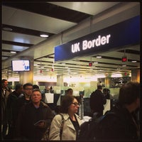 Photo taken at Security/Passport Control - T3 by Margot B. on 3/24/2013