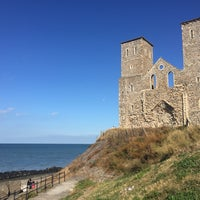 Photo taken at Reculver Towers and Roman Fort by Cagla B. on 9/11/2016