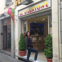 "Photo taken at Gelateria ""Il Gelatone"" di Ilia by Dani A. on 4/20/2013"