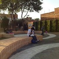 Photo taken at Parque de Bolsillo by Angelica G. on 2/21/2013