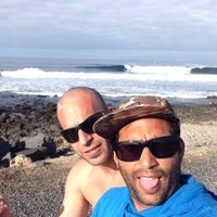 Photo taken at chamopoint beach by Ali Alejandro C. on 2/8/2014