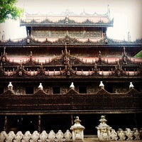 Photo taken at Golden Palace (Shwenandaw Kyaung) Monestary by Pete R. on 8/30/2013