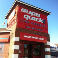 Photo taken at Supa Quick Tyre Experts Witkoppen by Gary K. on 4/16/2013