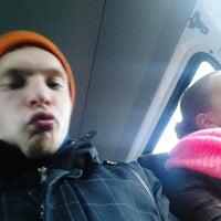 """Photo taken at Маршрутка ТРК """"Жемчужная плаза"""" (ст. метро """"Ленинский проспект"""") by Саша П. on 12/21/2013"""