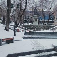 Photo taken at Театральный сквер by Кристина Б. on 4/3/2015