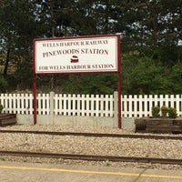 Photo taken at Wells Harbour Railway - Pinewoods Station by Paul A. on 4/20/2014