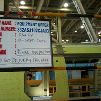 Photo taken at MK2 Helicopter Hangar (Ae) PT. DI by Muhamad R. on 10/24/2013