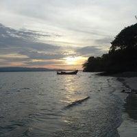 Photo taken at Tanjung Lesung by Nurul Fajri R. on 10/13/2013