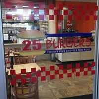 Photo taken at 25 Burgers & Pizza by Mo N. on 9/11/2013