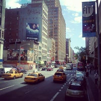 Photo taken at Mega Bus - 7th Ave & 27th St by Johnny A. on 5/26/2013