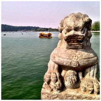 Photo taken at 昆明湖 Kunming Lake by Ryan S. on 4/27/2013