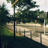 Photo taken at Tramhalte Korte Voorhout by Ena D. on 9/9/2014