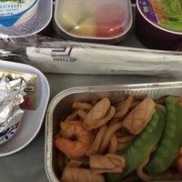 Photo taken at Thai Airways Flight TG 676 BKK-NRT by Fuyuhiko T. on 5/7/2017