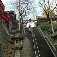 Photo taken at 市谷亀岡八幡宮 by Fuyuhiko T. on 1/25/2013