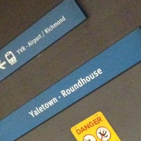 Photo taken at Yaletown - Roundhouse SkyTrain Station by Justin B. on 2/10/2013