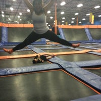 Photo taken at Sky Zone Indoor Trampoline Park by STephiie M. on 8/4/2014