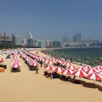 Photo taken at Haeundae Beach by Donghyun K. on 8/13/2016