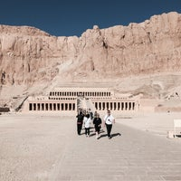 Photo taken at Mortuary Temple of Hatshepsut by Tobias F. on 12/30/2014