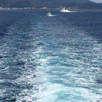 Photo taken at 奄美大島と加計呂麻島の間の海上 by ny7ny T. on 3/7/2015