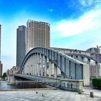 Photo taken at Kachidoki Bridge by Nobuu on 5/26/2013