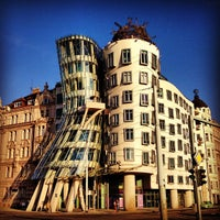 Photo taken at Dancing House by Edward E. on 6/11/2013