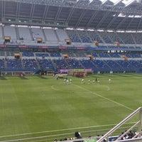Photo taken at Daejeon Worldcup Stadium by TC Metin K. on 4/9/2016