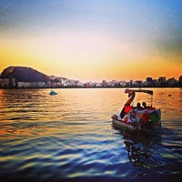Photo taken at Lagoa Rodrigo de Freitas by Camila B. on 4/1/2013