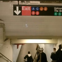 Photo taken at MTA Subway - Fulton St (A/C/J/Z/2/3/4/5) by Daniel R. on 1/17/2013