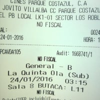 Photo taken at Cines Costazul by Pedro L. on 1/24/2016