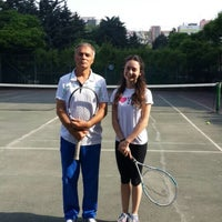 Photo taken at Ataköy 9. Kısım Tenis Kortları by Cansu U. on 5/18/2015