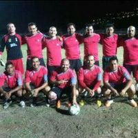 Photo taken at Campo De Futbol de La UDO by Cesar C. on 5/17/2014