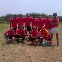Photo taken at Campo De Futbol de La UDO by Cesar C. on 6/14/2014