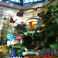 Photo taken at Bellagio Conservatory & Botanical Gardens by Nadja P. on 4/29/2013