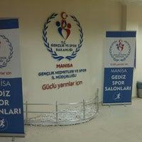 Photo taken at Gediz Spor Salonu by hasan s. on 2/24/2014