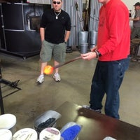 Photo taken at Morean Glass Studio & Hot Shop by Craig A. on 4/8/2014