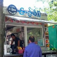 Photo taken at E-San Thai Food Cart by John F. on 7/10/2013