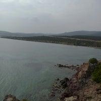 Photo taken at karapinar plaj by Mustafa C. on 10/5/2014