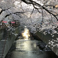 Photo taken at Meguro Bridge by POOH on 3/28/2018