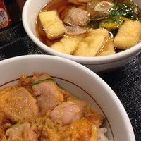 Photo taken at なか卯 金沢駅西本町店 by hiromiko on 12/25/2014